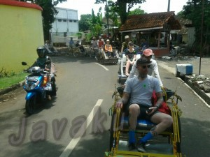 City tour by becak